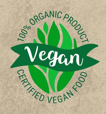 green leaf salad sticker. Ilustrace