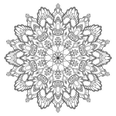 Mandala design, meditation ornament. colouring Foto de archivo