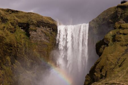 Nature view in Iceland. Famous waterfall. 版權商用圖片