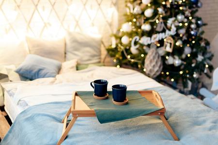Christmas decor with Christmas tree and toys