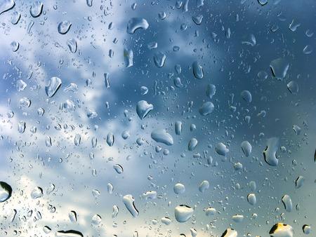 water drops on the glass 版權商用圖片