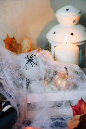 set of halloween items, layout for the holiday halloween Фото со стока - 133782965