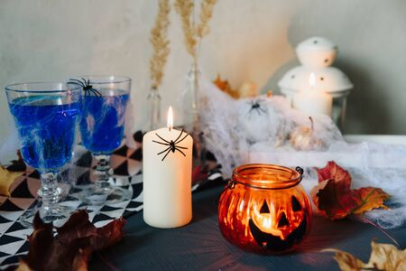 set of halloween items, layout for the holiday halloween Фото со стока - 133782968
