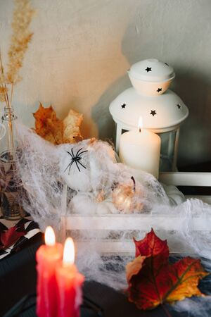 set of halloween items, layout for the holiday halloween Фото со стока - 133783109