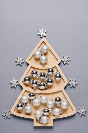 set of items for the new year, layout for the holiday Christmas Фото со стока - 135576539