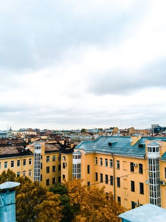 city landscape with a view of the rooftops of St. Petersburg Фото со стока - 135576549