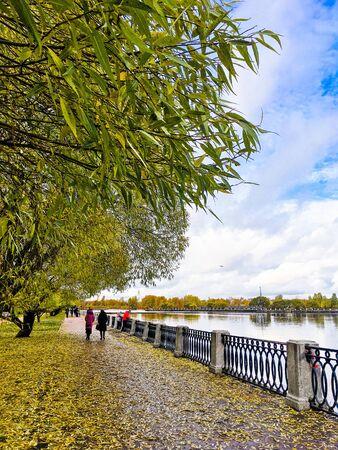 beautiful autumn landscape in Sunny weather o Фото со стока - 136201874