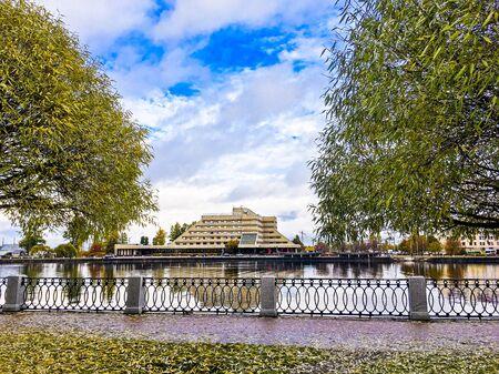 beautiful autumn landscape in Sunny weather o Фото со стока - 136202182