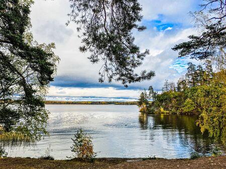 beautiful autumn landscape in Sunny weather o Фото со стока - 136203481