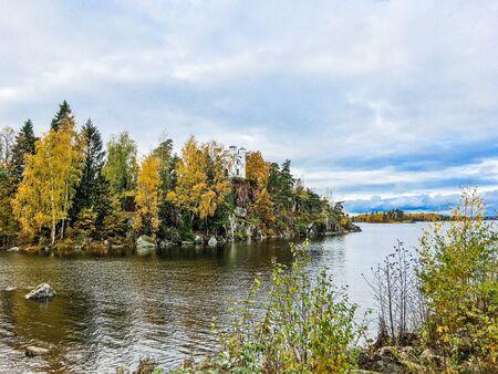 beautiful autumn landscape in Sunny weather o Фото со стока - 136203306