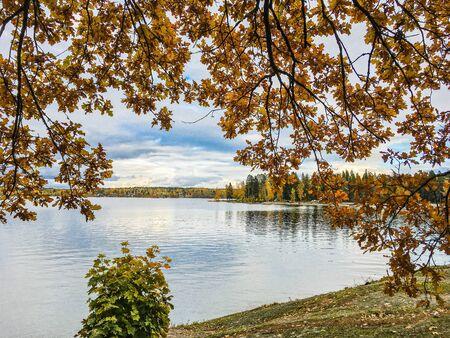 beautiful autumn landscape in Sunny weather o