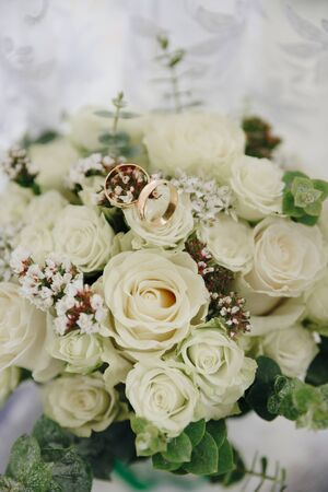 beautiful bridal bouquet of flowers for a wedding Imagens