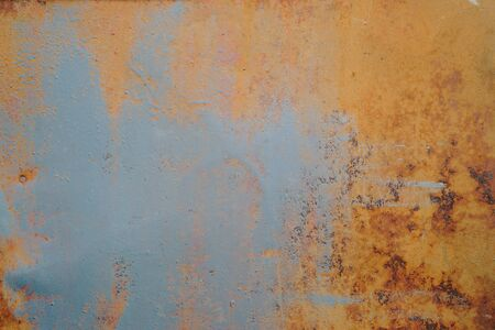 Abstract texture of rusty metal close up