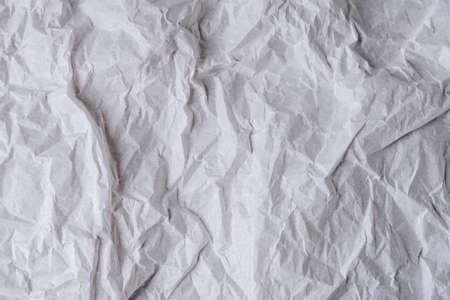 background texture of white crumpled paper, crumpled tracing paper