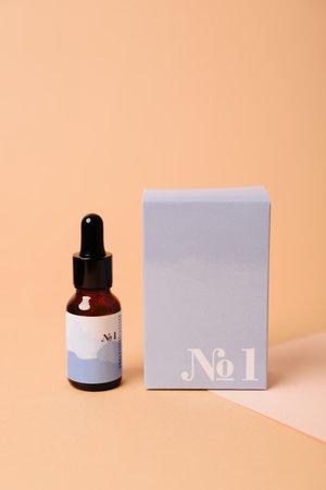 Black tubes with cosmetic cream, health care Standard-Bild