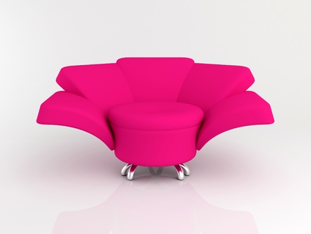 Armchair on the white background 3d