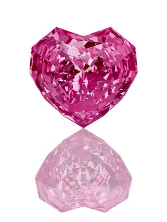 diamond heart on the white background 3d Stock Photo - 11908556