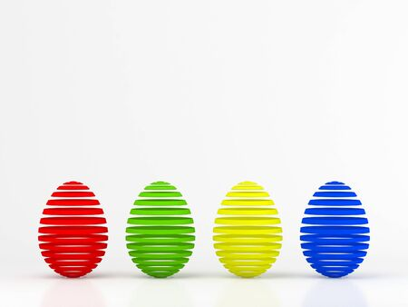 Set of color easter eggs over white background Stock Photo - 11908554