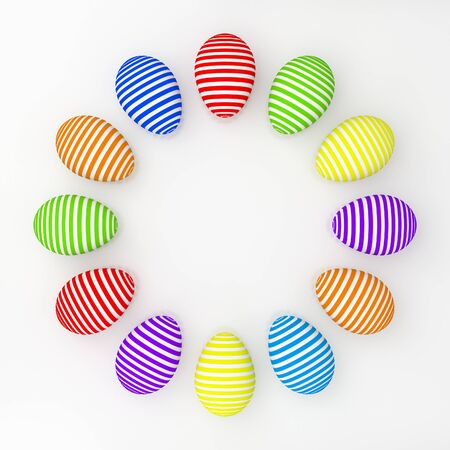 Set of color easter eggs over white background Stock Photo - 11908569