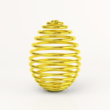 Gold easter egg over white background Stock Photo - 11908587