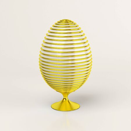 gold easter eggs over white background Stock Photo - 11908562