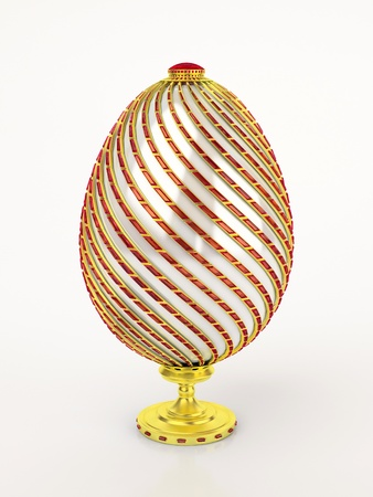 Faberge egg. Isolated on white.