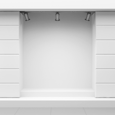 Empty show-window of shop Stock Photo - 11908583