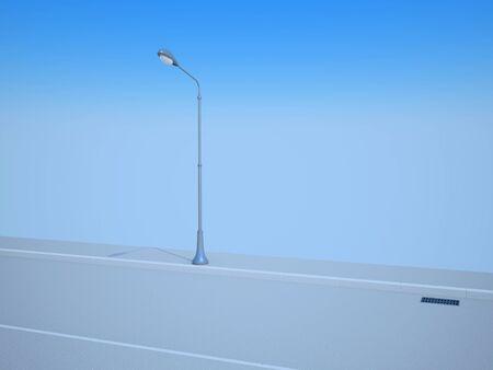 Street lantern on road Stock Photo - 12062284
