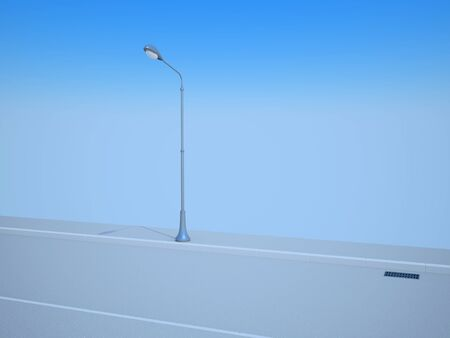 flagging: Street lantern on road Stock Photo