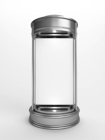 advertising column: Blank advertising column waiting for advertisement  Stock Photo