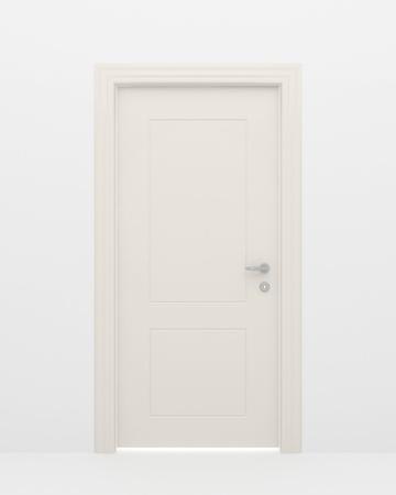 La puerta cerrada y la luz blanca detrás de una puerta