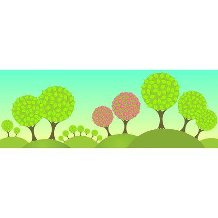 abloom: �rboles en flor en el bosque
