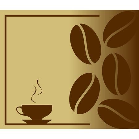 coffee beans: Stomen hete koffie in beker