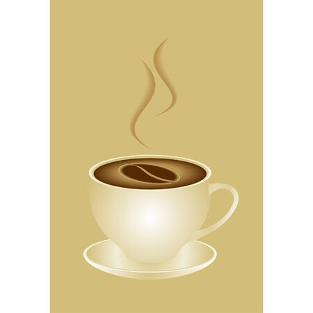 a white cap with coffee Vector