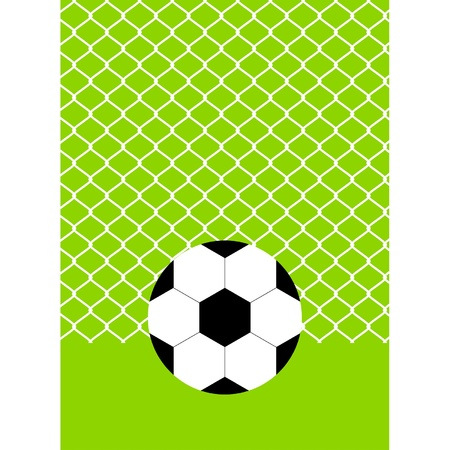 soccer ball on the green field with grass - vector illustration Vector