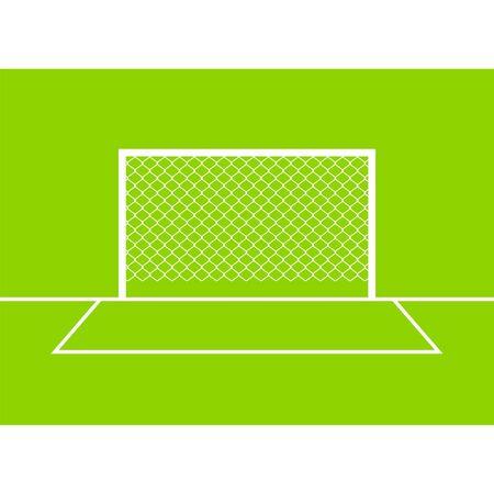 Soccer goal front view  Vector illustration