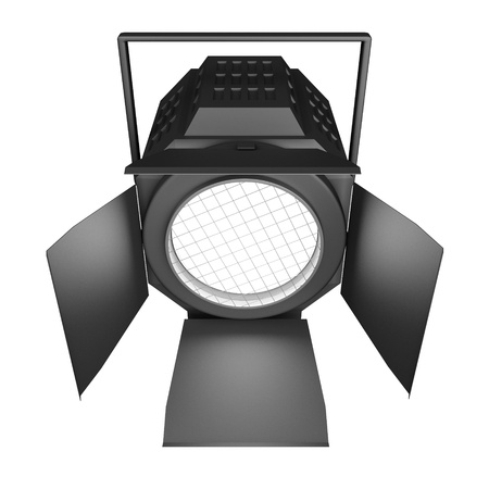 searchlight: Shining searchlight  Isolated on a white background  Stock Photo