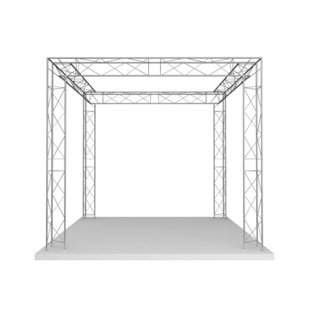 Advertizing design from metal trusses  Isolated on a white background Stock Photo - 13264422