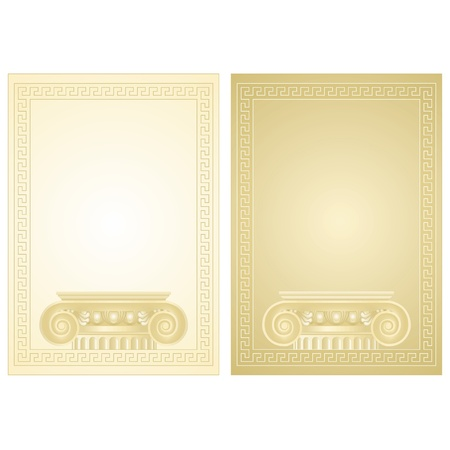 stylistic: Classical antique Greek border frame