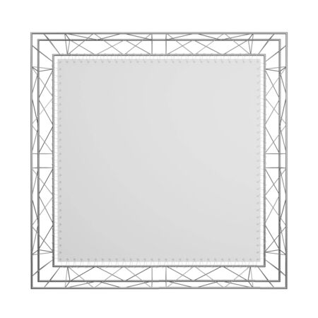full face: The empty exhibition stand isolated on a white background  A look - directly full face