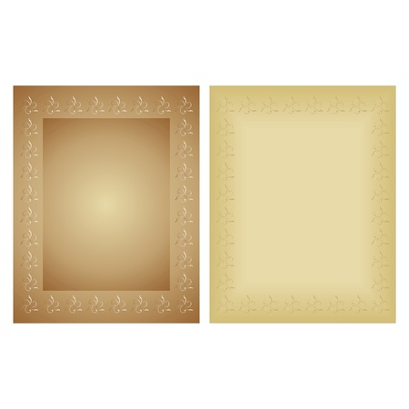 paper background: Decorative framework with an ornament