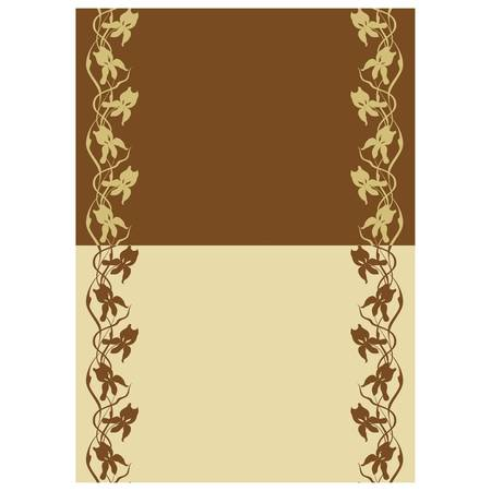 Pattern seamless, a curl on a beige background Stock Vector - 13586882