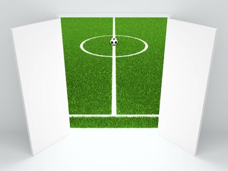 conducting: The open doors conducting on football stadium