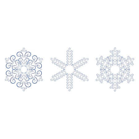 Russian ornaments in gzhel style. Gzhel (a brand of Russian ceramics, painted with blue on white) Stock Vector - 15596184