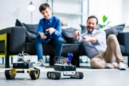 Selective focus of robotic devices standing on the floor