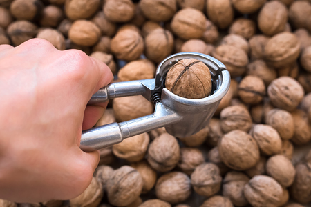 tool for cracking walnuts Stock Photo