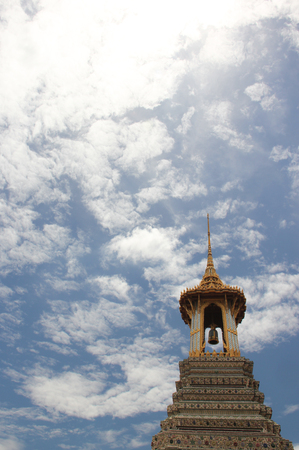 bell tower: Bell tower in Thai temple,Bangkok,Thailand.