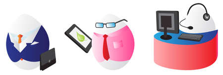 traditional events: Business easter eggs for design use