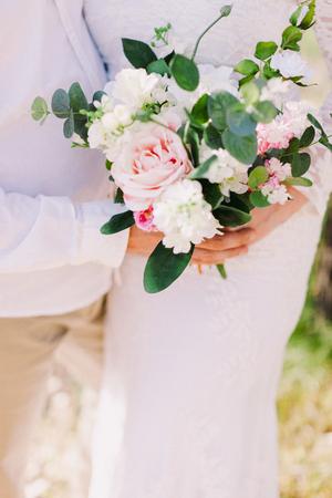 Hochzeitsstrauss Orchideen Und Pfingstrosen Hochzeitsblumenstrauss