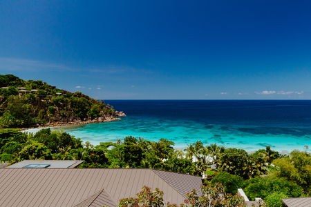 beach resort sea view. Luxury travelling. Seychelles, Mahe